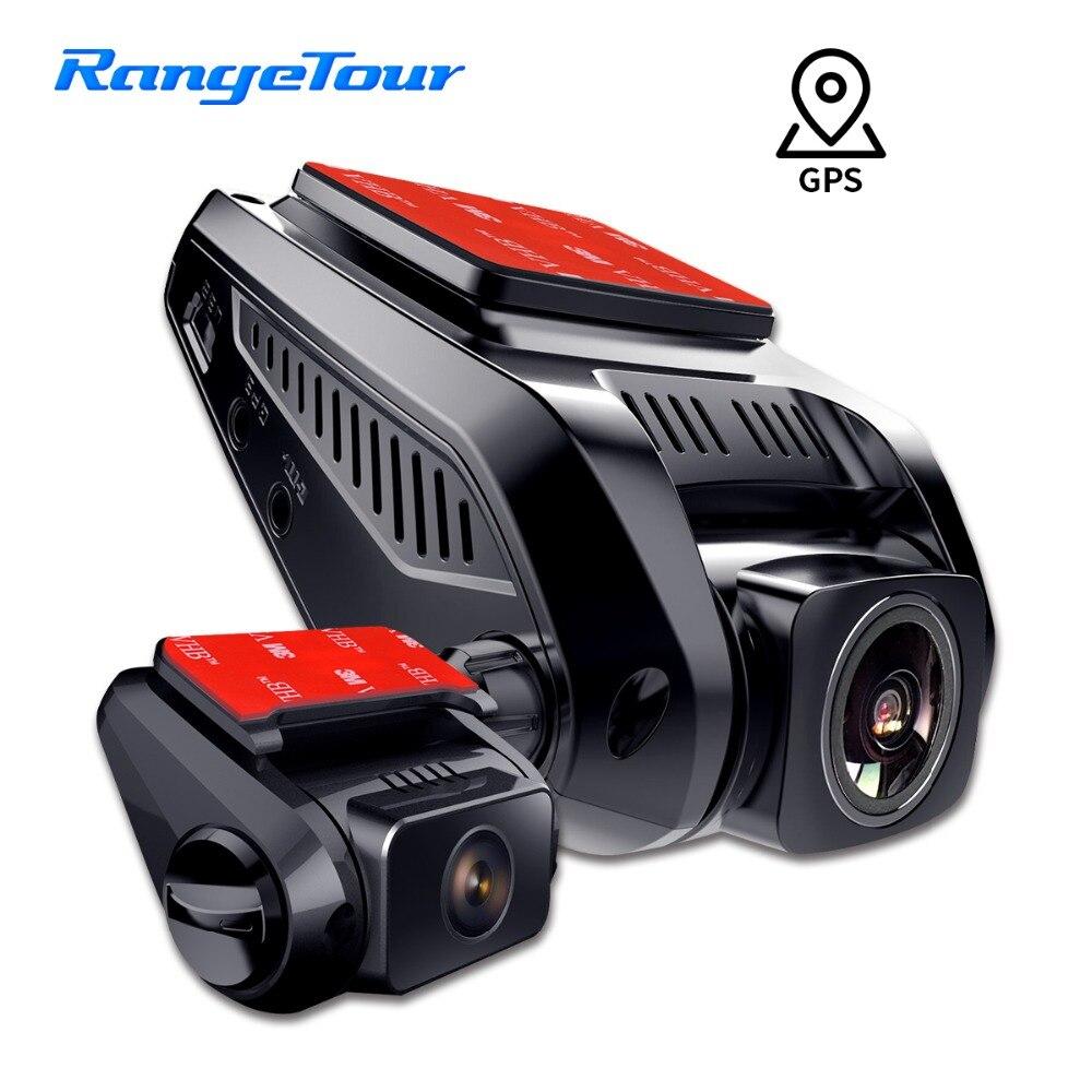 Gama Turnê Câmera Do Carro DVR Traço Cam GPS Logger Interno X7 Frente cam 1080 p com 720 p Cam Traseira g-Sensor de detecção de Movimento