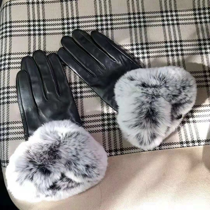 New PU gloves Women 39 s winter plus velvet warm leather gloves Touch screen gloves in Women 39 s Gloves from Apparel Accessories