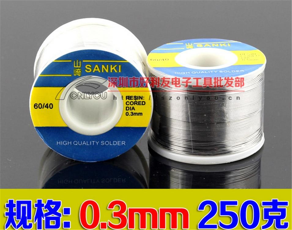 New Welding SANKI solder wire Reel 250g FLUX 2.0% 0.3mm 60/40 45FT Tin Lead Line Rosin Core Flux Solder Soldering Wholesale цена и фото