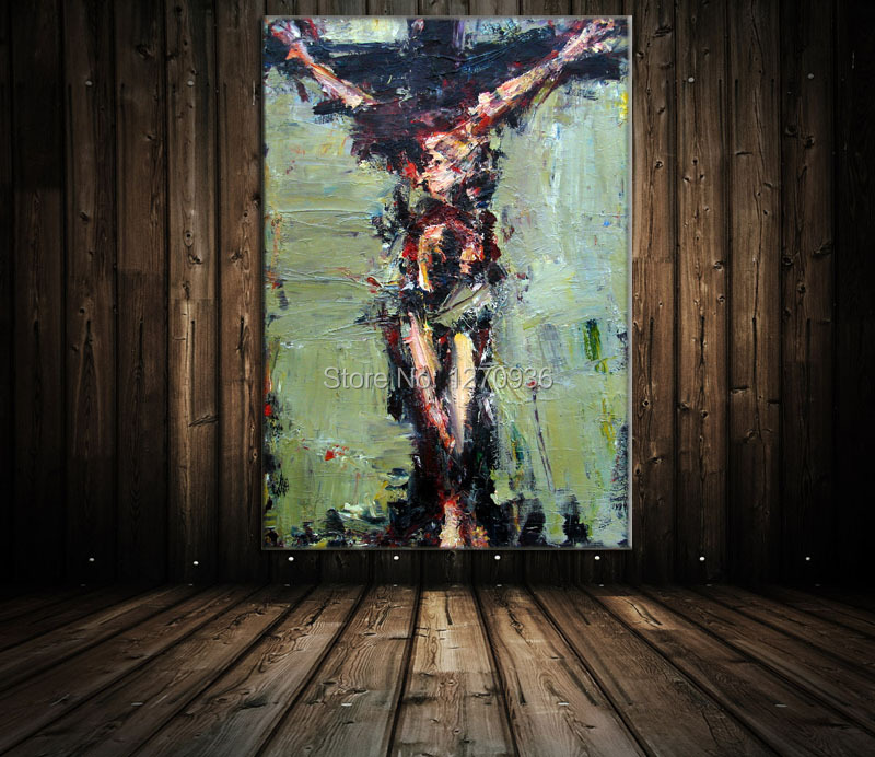 Jesus Died May Abstract Being Crucified Jesus Above the Pure Hand painted font b Knife b