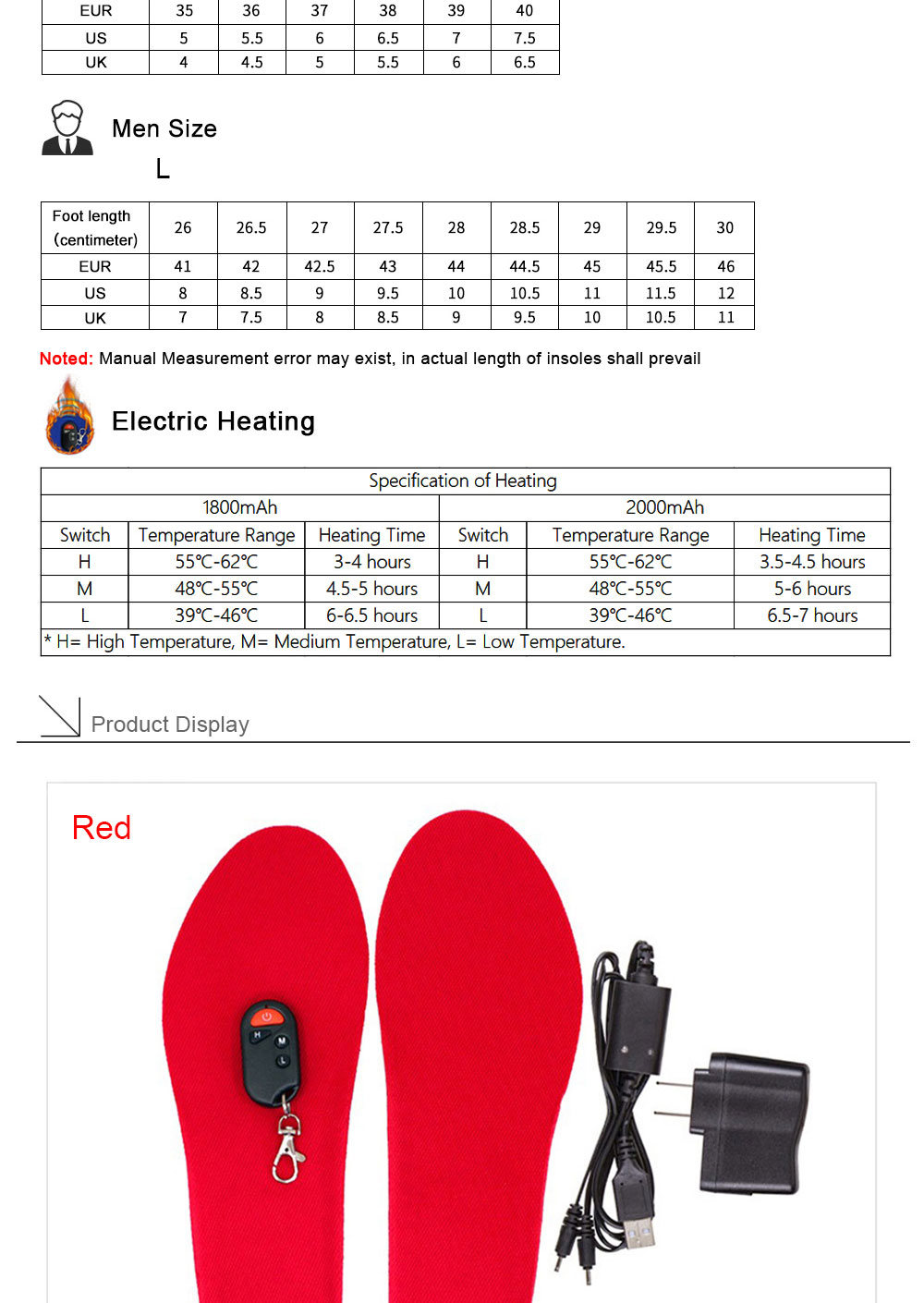 Wireless Controll Electric Heated Insoles_04