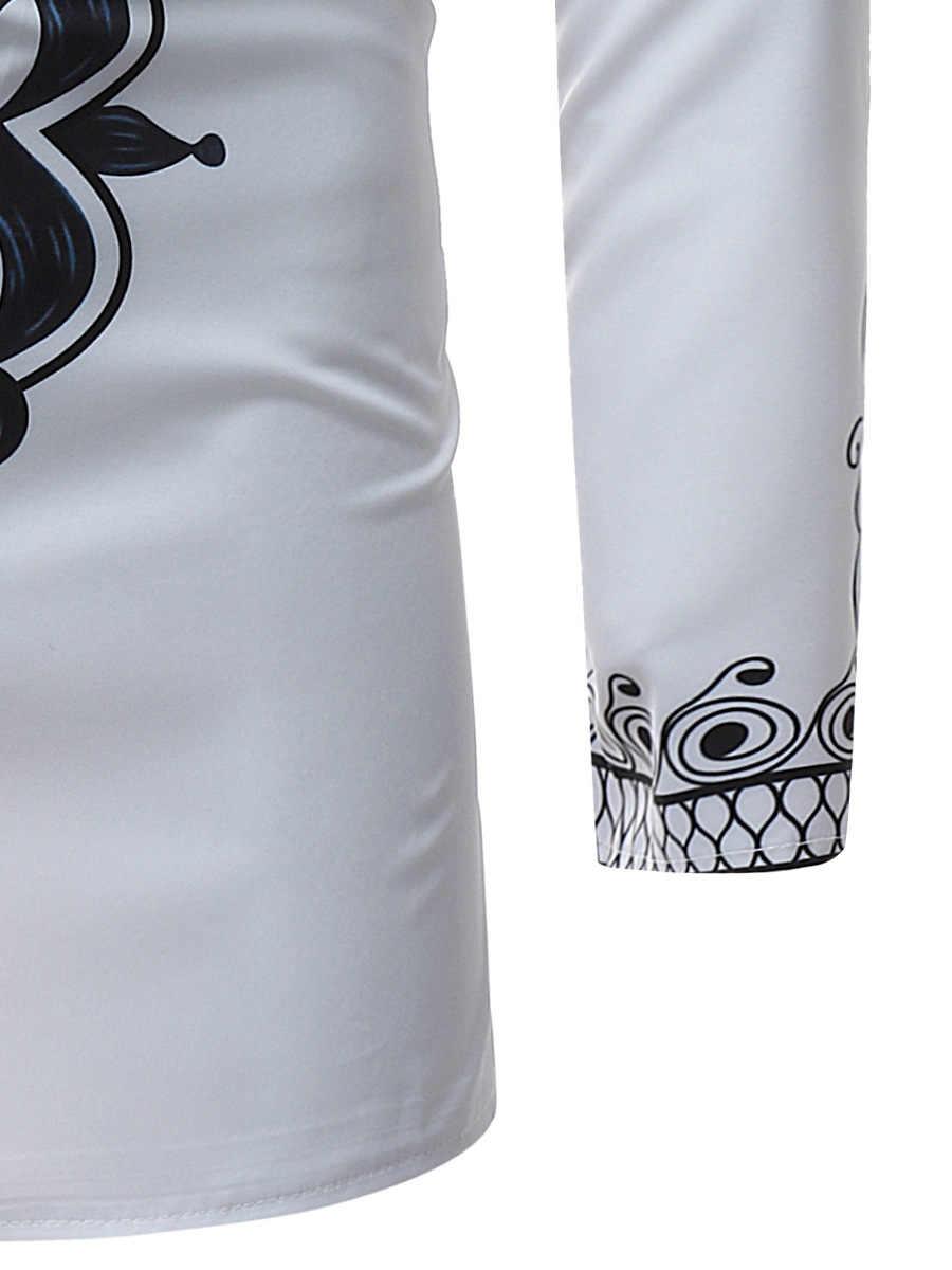 アフリカの部族 Dashiki 延縄シャツ 2018 ブランド新スリム長袖マンダリン襟ドレスシャツ男性アフリカ服カミーサ
