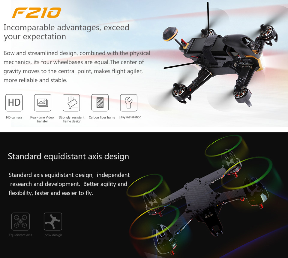 Hot selling Walkera F210 Racing Drone FPV version with Devo F7 OSD