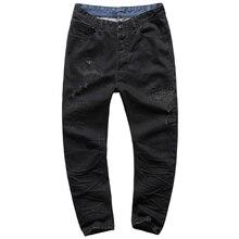 2017 Весной Новый Твердые Тощий Джинсы Мужчин Бренд Дизайнер Одежды Черный Джинсовые Брюки вскользь уменьшают джинсовые брюки мужчины брюки