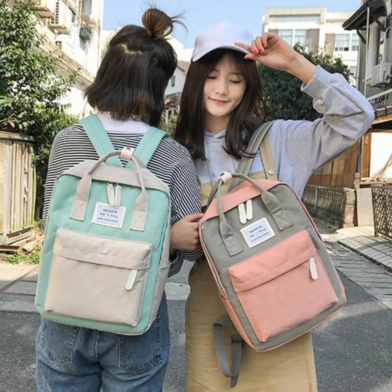 HTB1rU2ZKeGSBuNjSspbq6AiipXaw Yogodlns Campus Women Backpack School Bag for Teenagers College Canvas Female Bagpack 15inch Laptop Back Packs Bolsas Mochila