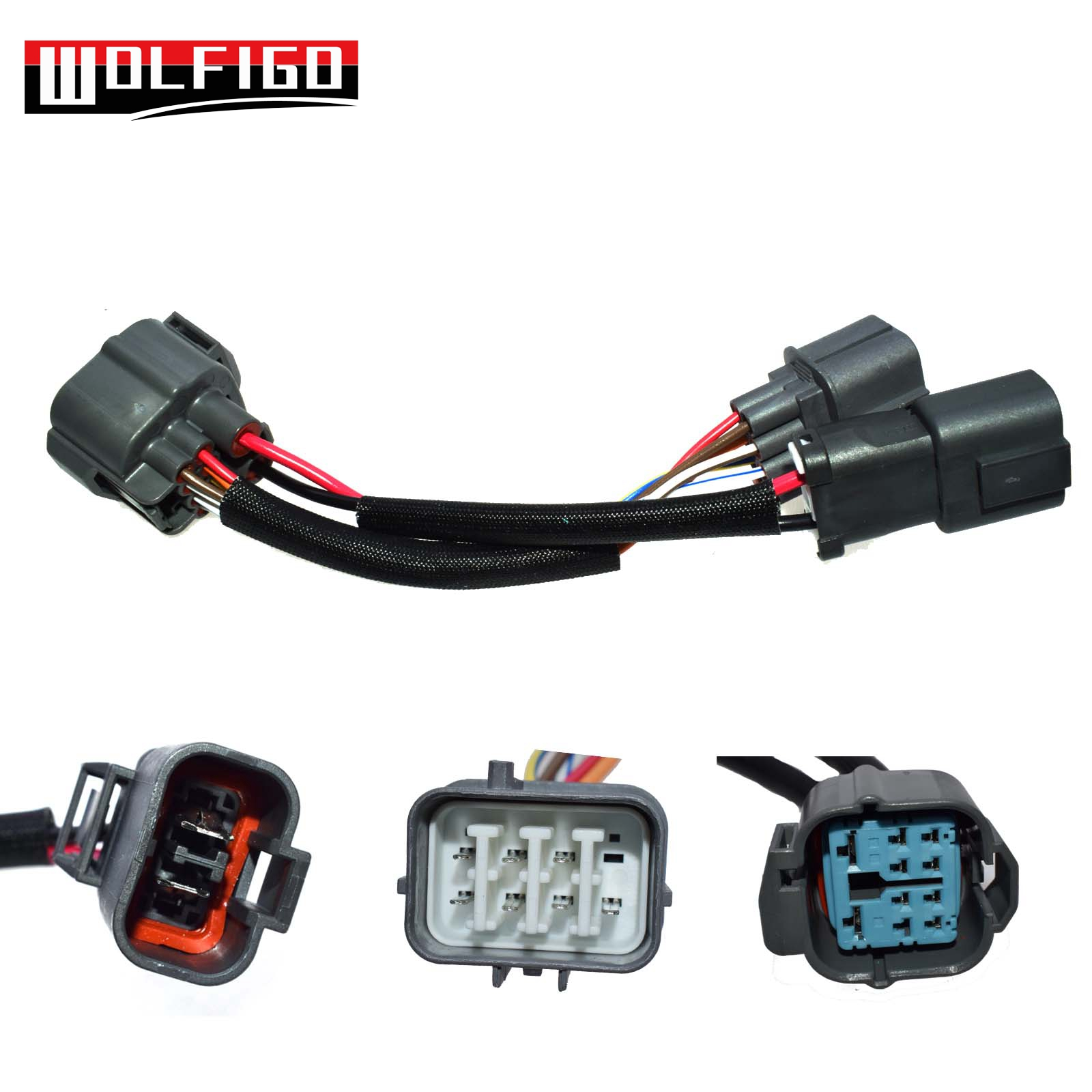 wolfigo new obd1 to obd2 10pin distributor engine jumper adapter harness for honda civic for acura [ 1600 x 1600 Pixel ]