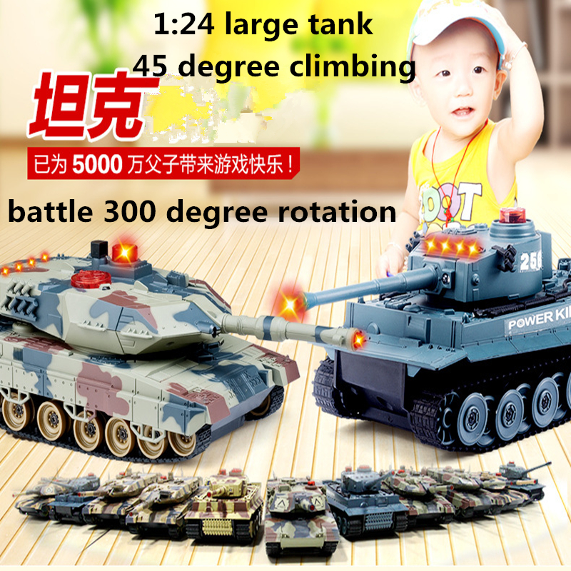 2018 Newest 2pcs Simulation Infrared germany tiger RC tank large charging war tank toy RC vehicle car tank model boy toy children day gift fighting battle tanks 2 4g 10 channel rc infrared shooting tank electric toy army vehicle big war tank present