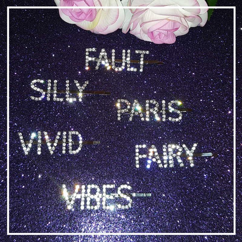 Красивая Женская буква из стразов зажимы для слов хрустальные шпильки для девочек инструменты для красоты аксессуары для волос подарки