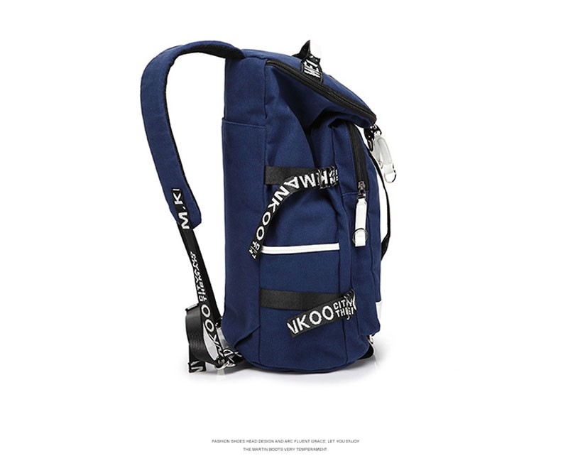 Men's Multi-Functional Backpack Vintage Shoulder Bag High Quality Canvas Male Bagpack Rucksack Travel Luggage for Weekend 12
