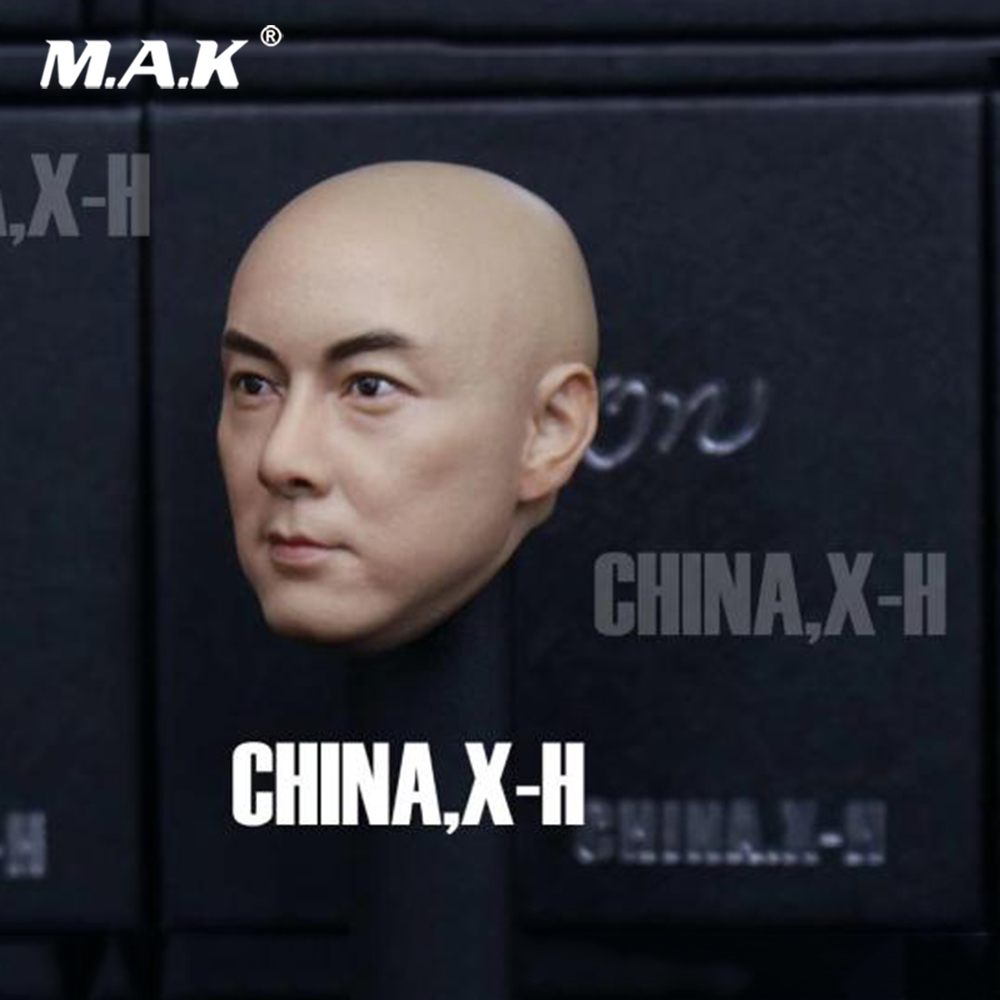 1/6 Collectible Asian Singer Movie Star Male Head Sculpt Dicky Cheung Bald head Carved Model Accessory for 12'' Action Figure