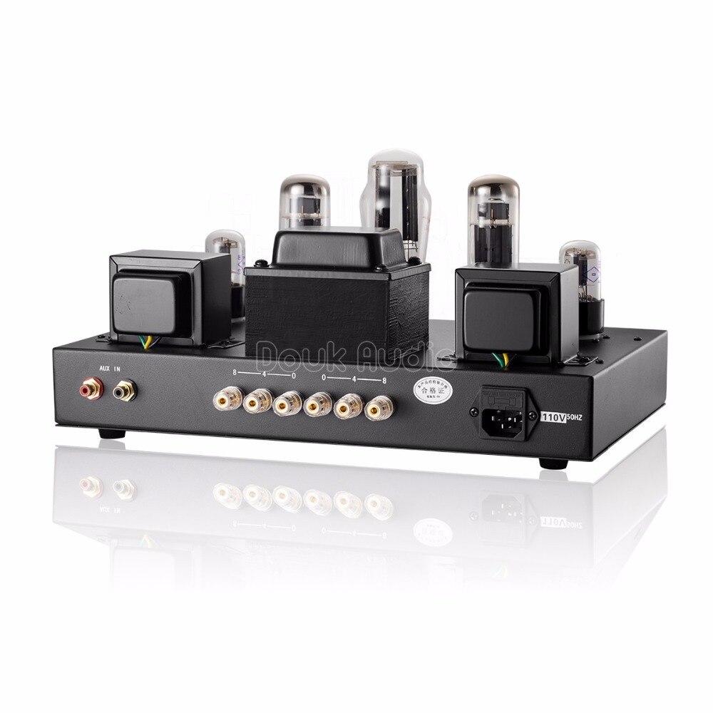 Douk audio Updated 6N9P Push EL34 Valve Tube Amplifier Pure Handmade Scaffolding Hi Fi Stereo Class A Power AMP - 2