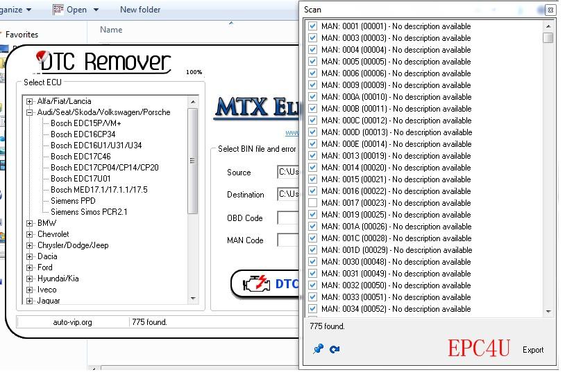 2017 MTX DTC Remover 1 8 5 0 Keygen+Software+DPF EGR Lambda Remover