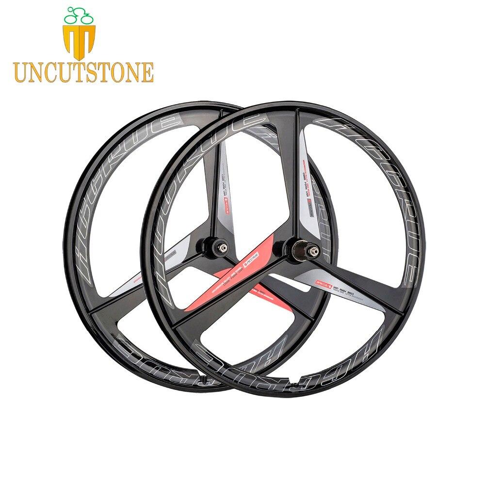 Roue de vélo de route 700C roue de vélo fixie jante de roue en alliage de magnésium roue de frein à disque de vélo