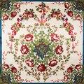 90 см * 90 см Новая Мода Шелковый Шарф Женщины Подражали Шелковый Евро Стиль Цветок розы Отпечатано Шали Шарфов хиджаб