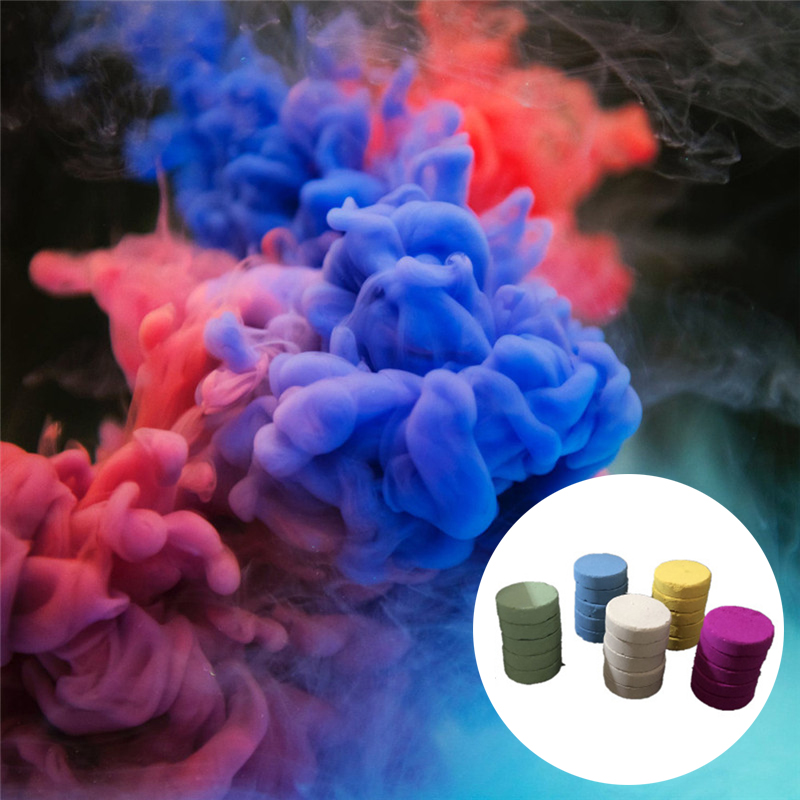 5pcs Smoke Cake Colorful Spray Smoke Effect Round Bomb Party Stage Studio Photography Props Magic Light Fog Smoke Cake Maker