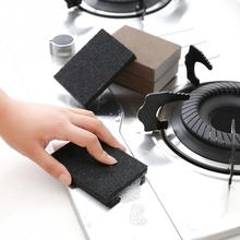 Household Cleaning Tools Strong Decontamination Diamond Sand Kitchen Scum Sponge Clean Magic Pot Window Frames Cleaning With Hand Protector Kitchen Tool