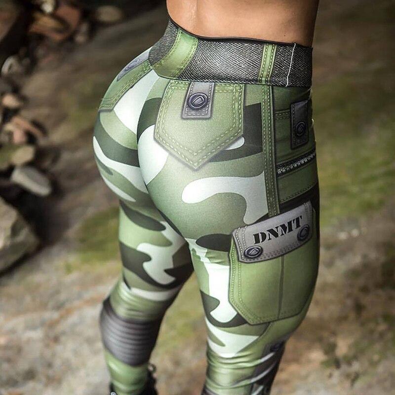 Leggings 2020 cintura alta moda Pantalones de camuflaje