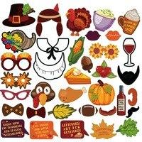 36 шт./компл. День благодарения фото стенд реквизит кукуруза, еда реквизит для фото вечеринок индейки счастливый день благодарения DIY События...