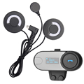 1 pcs BT Helmet Bluetooth Interphone Motorcycle Headset Intercom with LCD Screen +FM Radio for 3 Rider Intercom+Soft Headphone