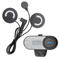 1 Pcs BT Helmet Bluetooth Interphone Motorcycle Headset Intercom With LCD Screen FM Radio For 3