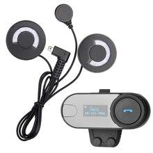 FreedConn! 1 stück BT Bluetooth Sprechmotorradhelm Wireless Intercom-Headset mit LCD für 3 Fahrer + FM Radio + Soft Kopfhörer