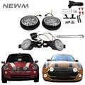 Fumé 1 paire Led clignotants lampes blanc/ambre 1 paire Led rallye lumière avec Halo anneau lampe pour Mini Cooper R50 R52 R53