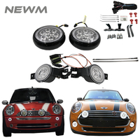 Smoked 1 Pair Led Turn Signal Lamps White/Amber 1 pair Led Rally Light With Halo Ring Lamp For Mini Cooper R50 R52 R53