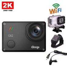 Бесплатная Доставка! gitup GIT2 2 К Wi-Fi Камера 30fps 1080 P Действие Спорт на открытом воздухе действия Камера + дополнительный микрофон + наручные Пульт дистанционного Управления