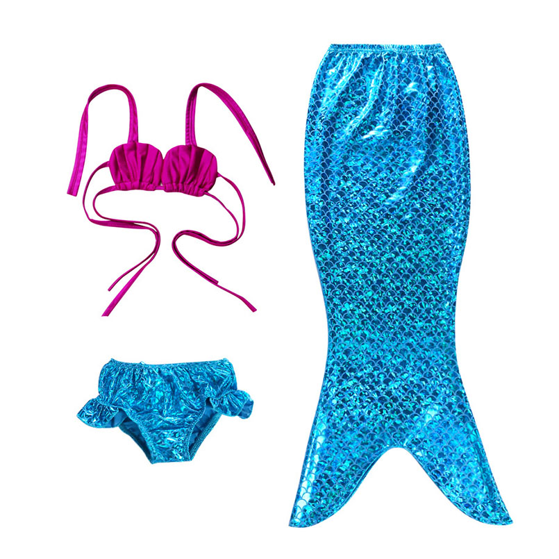 Mermaid Tail Swimming wear-blue rose