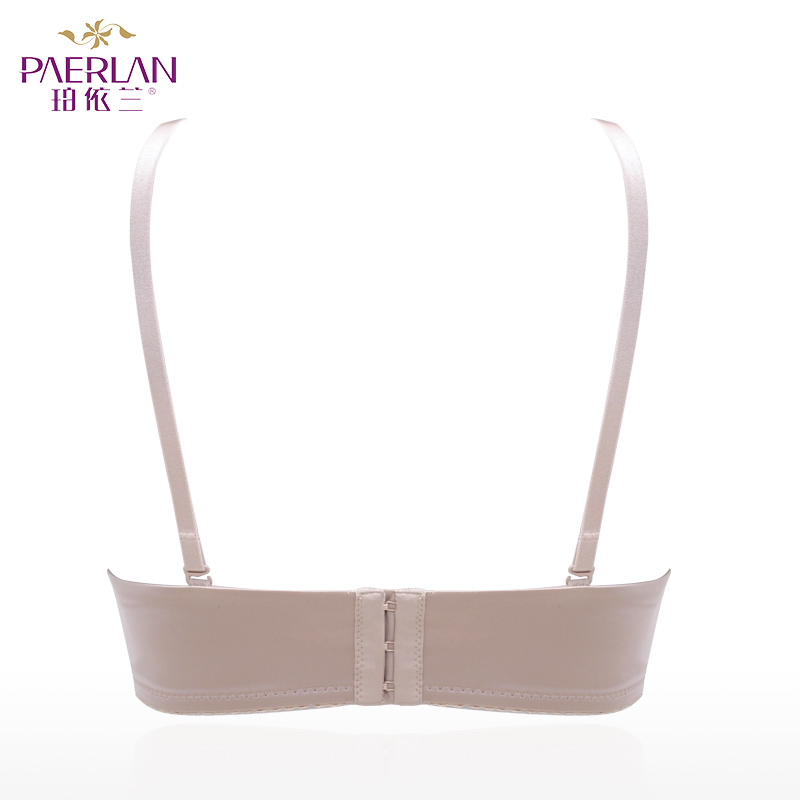 PAERLAN 1/2 Cup Half Cup small chest Push Up band None Solid bra smooth Seamless memory Lycra Underwire sexy underwear Women