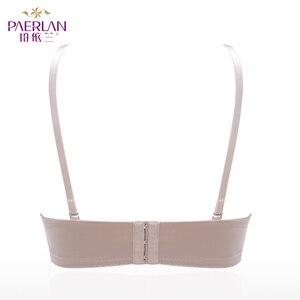 Image 3 - PAERLAN 1/2 szklanki nisko zabudowany mała klatka piersiowa Push Up band brak solidny biustonosz gładka bezszwowa pamięć Lycra fiszbiny seksowna bielizna damska