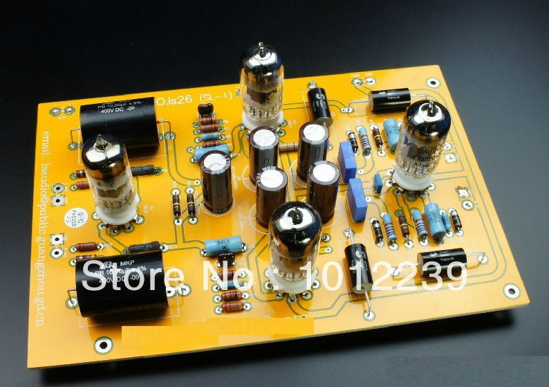 Assembled LS26 (CAT SL-1 line) tube preamp finished board
