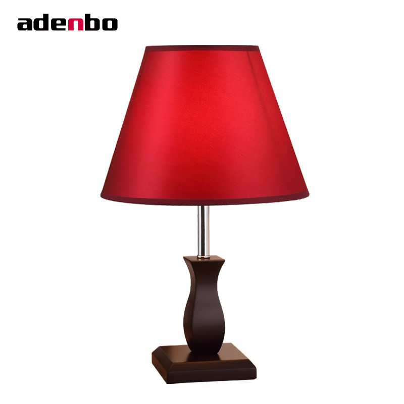 2017 Luxury Desk Lamps Modern Wooden Bedroom Lights Fabric Table Lamps For Bedroom Living Room Lighting Home Decoration vintage desk lamps bedroom lights metal and glass antique table lamps for living room bedroom home decoration lighting