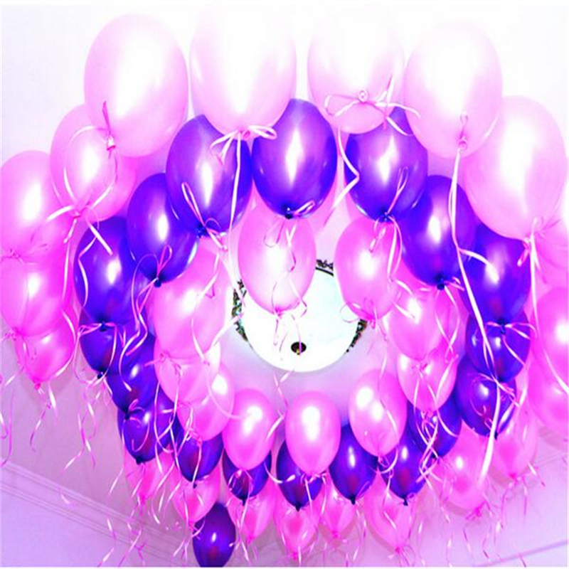 100pcs10 inch inflatable latex balloon wedding party balloons decorated children