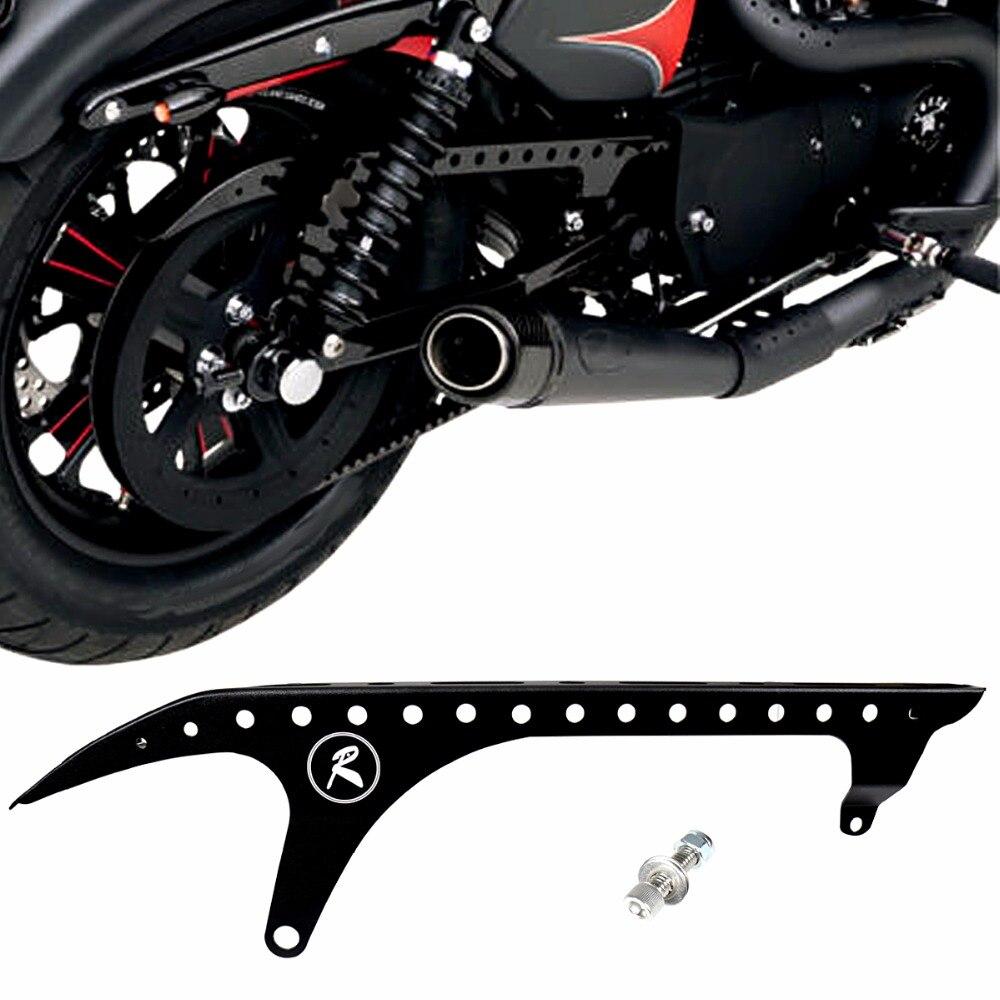 Moto Arrière Poulie Garde Noir Poulie D'entraînement Couverture Pour Harley Sportster XL 883 1200 48 72 SuperLow Nightster 2004- 2018 Modèle