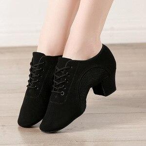 Image 4 - Bottom scarpe latine uomo tela sport scarpe da ballo neutre donna Oxford tessuto scarpe da ginnastica da ballo latino scarpe Oxford misura grande