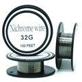 36 Gauge fio de nicromo 100FT 0.1mm Cantal Resistor Resistência AWG