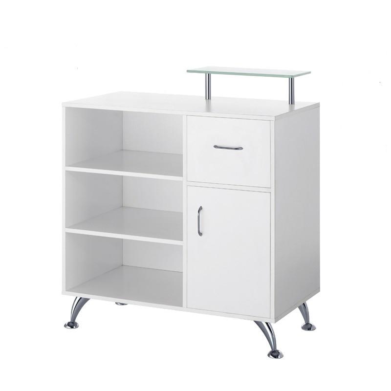 Receptionist Desk For Sale: Doshower Simple&Profession White Salon Reception Desk For