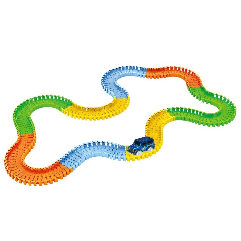 Glowing-Race-Car-Twister-Track-DIY-LED-Flashing-Light-Tracking-Rail-Glow-in-the-Dark-Flexible-Railway-for-Mini-Cars-Kids-2