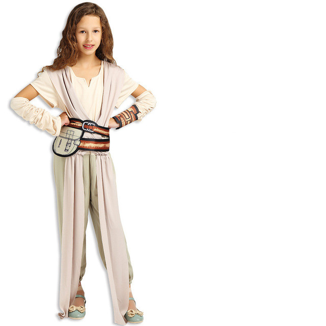 bb95c7f2431 Child Classic Star Wars The Force Awakens Rey Fancy Dress Girls Movie  Charater Cosplay Carnival Halloween Costume Kid Masquerade-in Clothing Sets  from ...