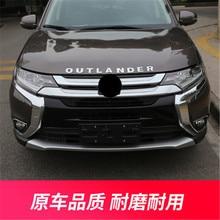 Для Mitsubishi Outlander- ABS Хром передний бампер бар Отделка Передняя решетка Вокруг отделка гоночные грили TrimCar Стайлинг