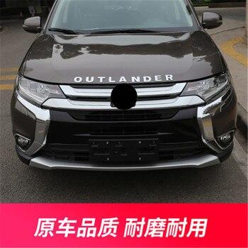 Para Mitsubishi Outlander 2016-2019 ABS frente Chrome bumper bar guarnição Grade Dianteira Ao Redor de Trim Corrida Grills TrimCar Styling