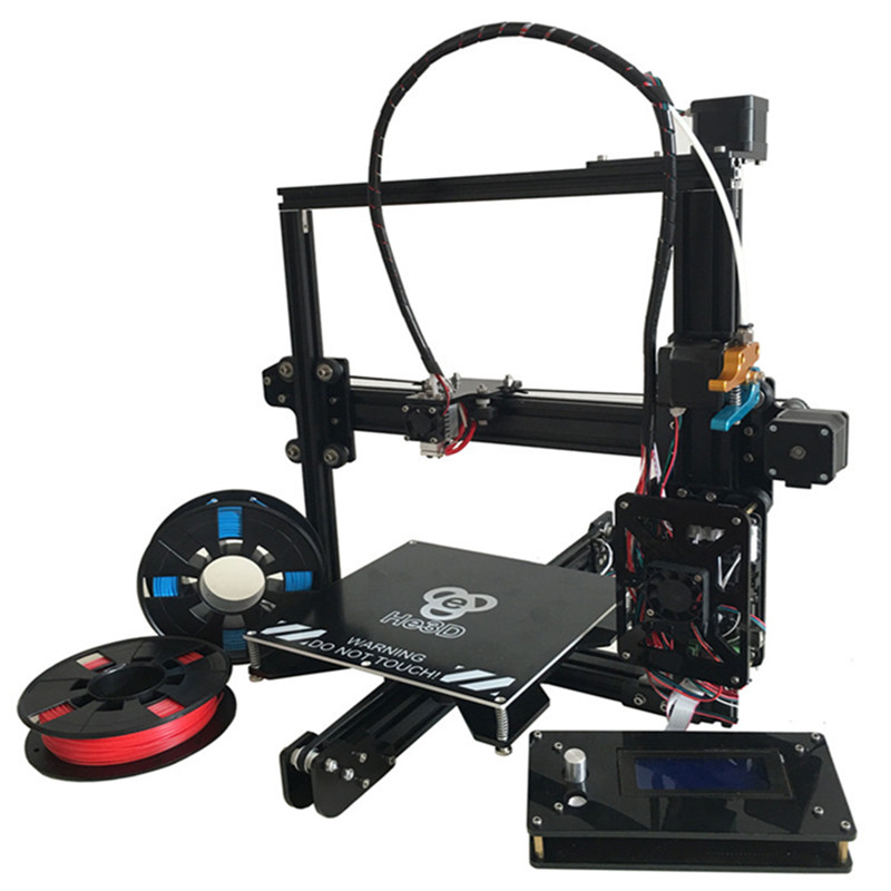 Auto Leveling HE3D EI3 single flex Aluminium Extrusion diy 3D Printer kit 2 Rolls Filament 8GB SD card As Gift zauber genesis d six