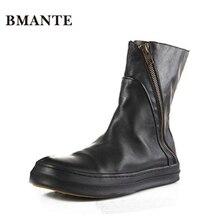 Натуральная кожа; известный бренд; модная мужская повседневная обувь; высокие ботинки с высоким берцем на толстой подошве в стиле Харадзюку; мужские ботинки с искусственным мехом в австралийском стиле