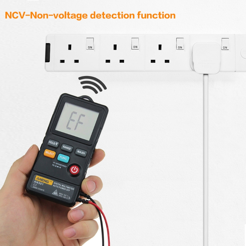 ANENG AN301 Mini Digital Multimeter 1999 Counts Portable AC DC Voltmeter Resistance Ammeter Meter Tester With LED Light