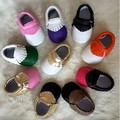 wholesale new hot baby mixed colors fringe toddler shoes Baby Moccasins PU leather tassel kid first walker 6 pairs a lot bulk