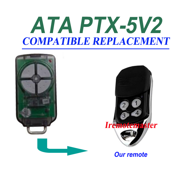 ATA  PTX5v2 PTX5V1 compatible  Garage Door Triocode  remote Control ata ptx5 tricode replacement remote 1234button ptx 5 radio contol remote 433 92mhz 434 37mhz 433 37mhz