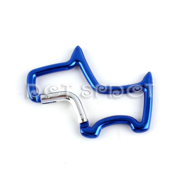 Free Shipping Blue Scotty Dog Shape Carabina Clip Portable Keychain Clip Hiking Mountain Snap Hook