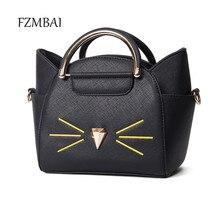 Schöne kleine pu flügel handtasche frauen cat umhängetasche