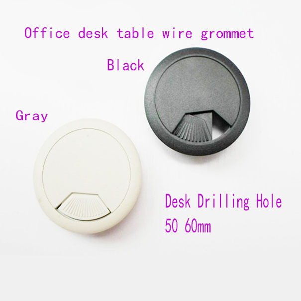 50mm computer table cable plastic grommet office desk wire for 1 furniture hole cover